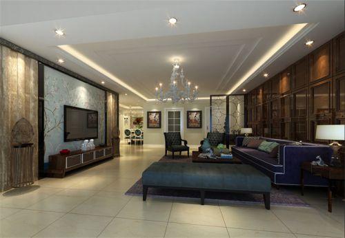 简欧风格二居室客厅茶几装修效果图大全