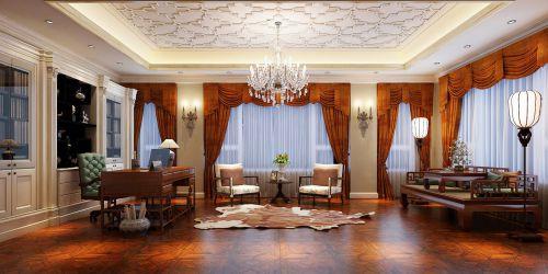 复古大气华丽简欧风格客厅效果图