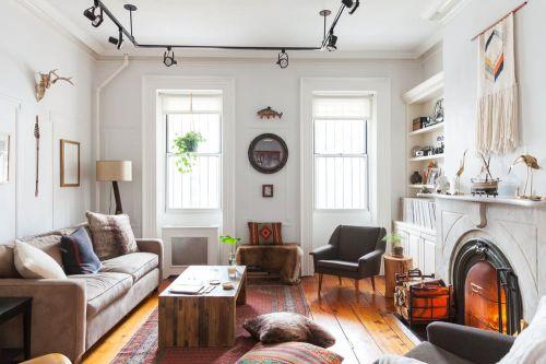 温暖舒适简欧风格客厅壁炉设计效果图