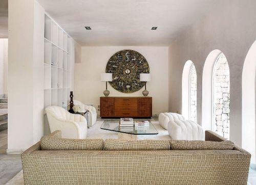 简欧风格个性优雅客厅装修实景图