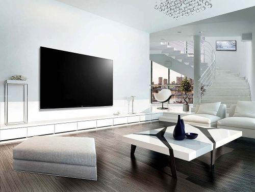白色简欧风格客厅茶几装修效果图
