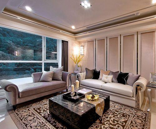 簡歐風格三居室客廳飄窗裝修效果圖欣賞