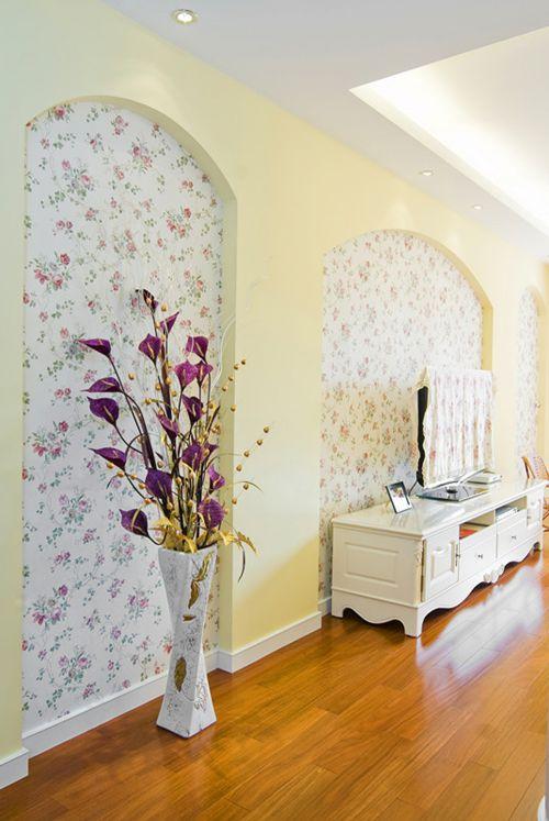 简欧风格三居室客厅装修图片