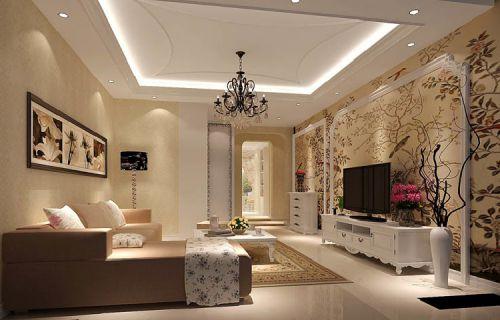 简欧风格三居室客厅装修图片欣赏