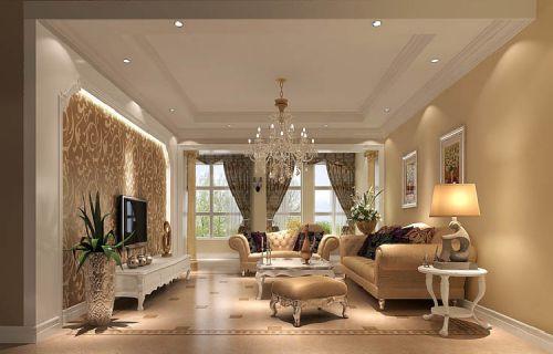 简欧奢华三居室客厅沙发装修效果图大全