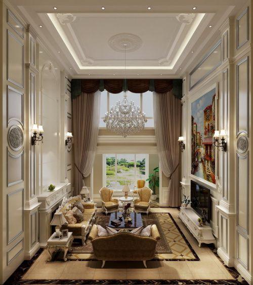 簡歐風格六居室客廳飄窗裝修效果圖欣賞