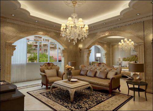 简欧风格六居室客厅吧台装修效果图欣赏