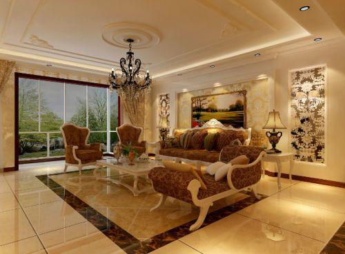 简欧风格五居室客厅装修效果图欣赏