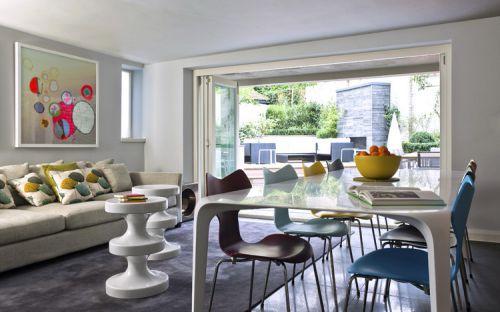简欧风格三居室客厅沙发装修效果图欣赏