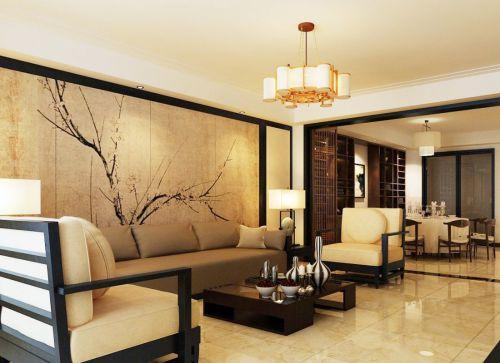 中式风格客厅休闲沙发装修效果图