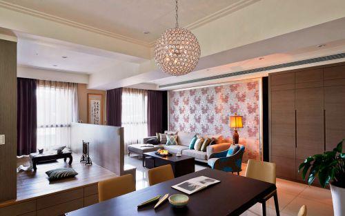 奢华中式风格客厅灯具效果图欣赏