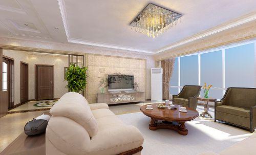 中式风格二居室客厅装修图片