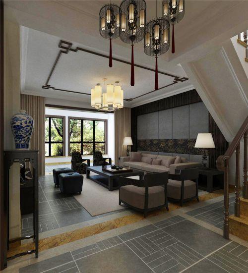 中式古典四居室客厅沙发装修效果图