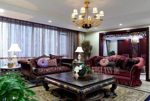 中式古典别墅客厅装修效果图