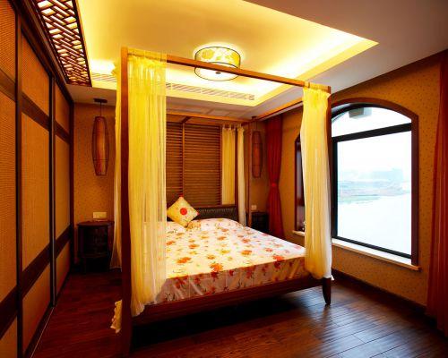 124㎡气质中式风格卧室装修效果图