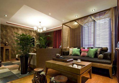 中式风格二居室客厅装修图片欣赏