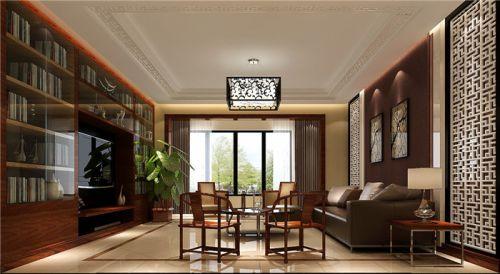 中式古典三居室客厅电视柜装修图片