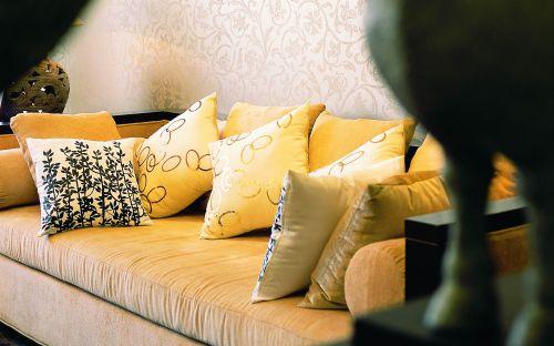 中式古典五居室客厅窗帘装修效果图大全