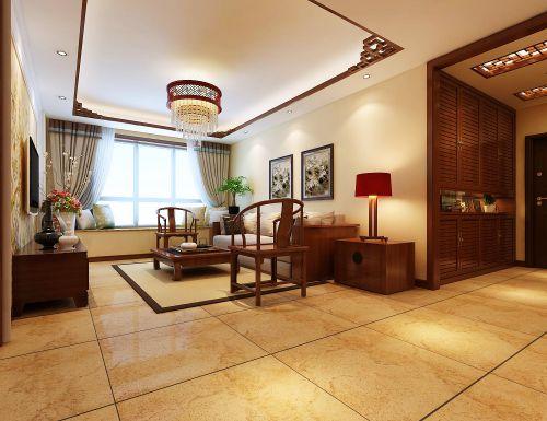 新中式三居室客厅装修图片欣赏