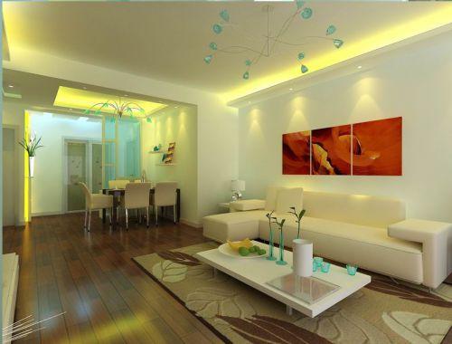 中式古典二居室客厅装修效果图