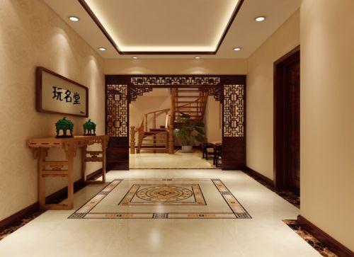 中式風格三居室客廳飄窗裝修效果圖大全