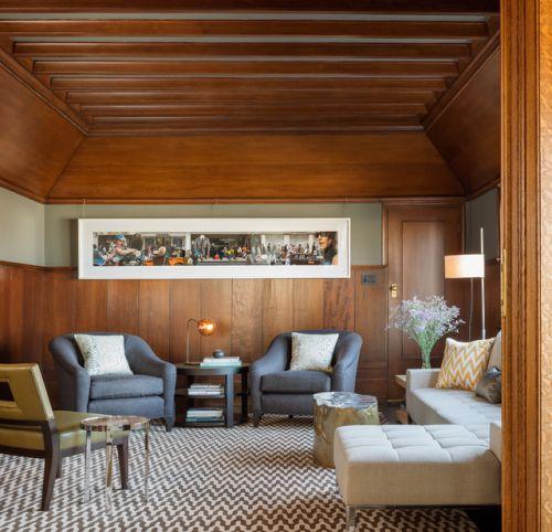 中式风格三居室客厅背景墙装修图片