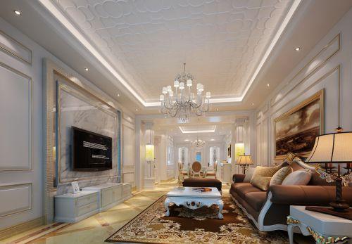 欧式二居室客厅沙发装修效果图欣赏
