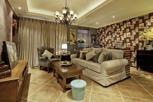 经典客厅欧式风格一室一厅小户型装修图片