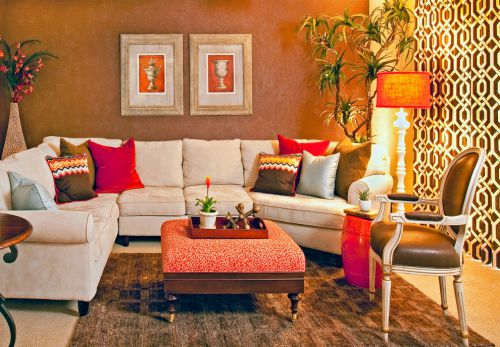 温馨典雅欧式风格客厅小面积家装效果图