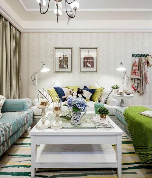 欧式风格浪漫主义客厅装修实景图