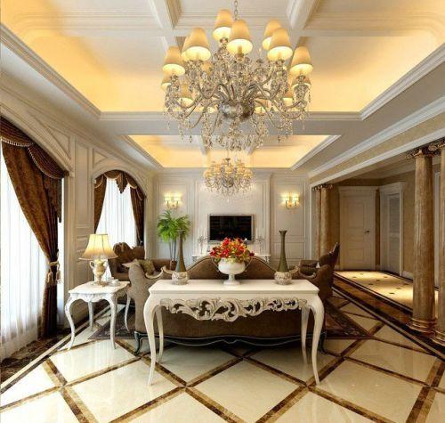 古典欧式风格一居室客厅装修效果图欣赏