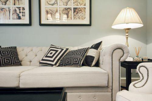 浪漫欧式风格客厅沙发装修实景图