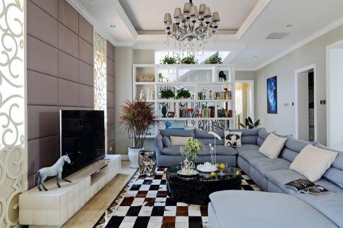 简约欧式风格别墅客厅装修图片