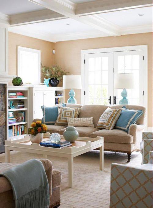 优雅静谧欧式风格客厅茶几装修实景图