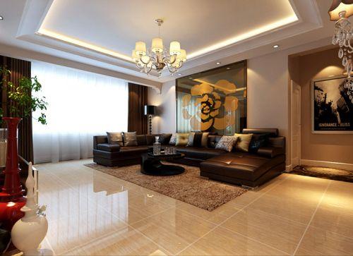 古典欧式三居室客厅装修效果图