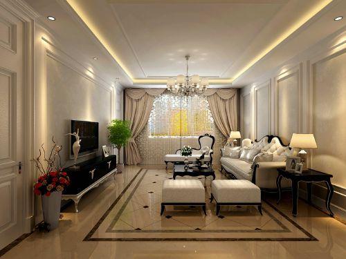 欧式奢华三居室客厅装修图片