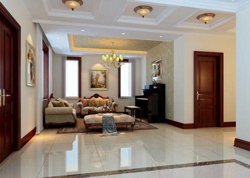 古典欧式风格三居室客厅装修图片欣赏