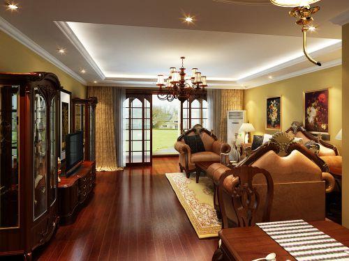古典欧式风格三居室客厅装修效果图欣赏