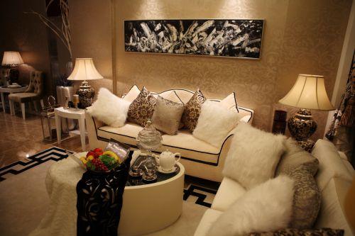 欧式风格二居室客厅装修效果图大全