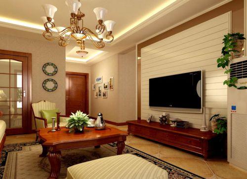现代欧式二居室客厅装修图片欣赏
