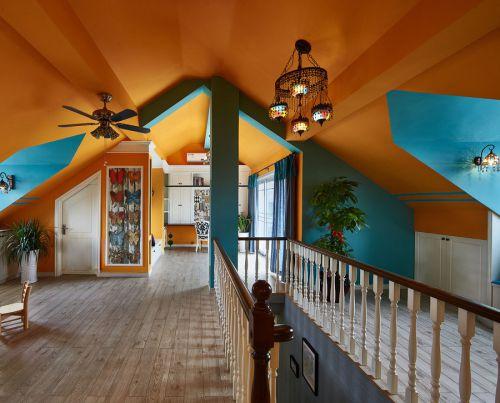 橙色欧式风格大客厅吊顶设计