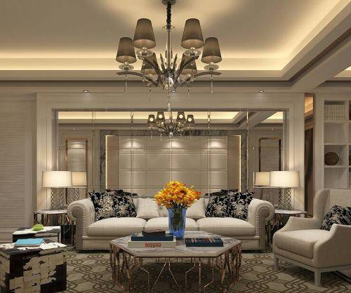 欧式风格大户型客厅装修效果图大气时尚
