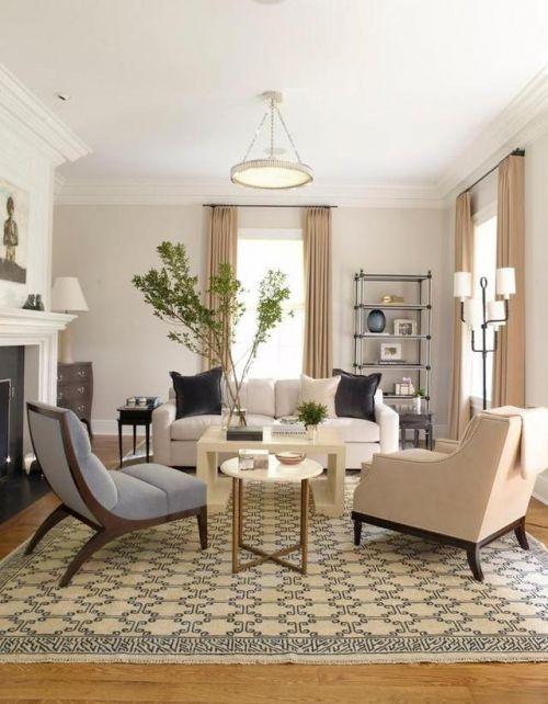 欧式风格客厅简洁木质茶几装修实景图