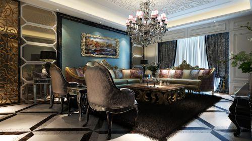 欧式 时尚 华丽六居室客厅装修效果图欣赏