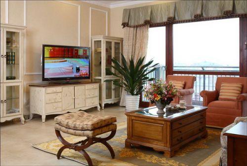 欧式乡村三居室客厅装修效果图欣赏