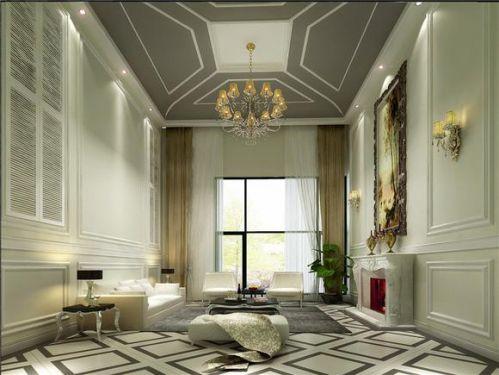 欧式奢华别墅客厅装修图片