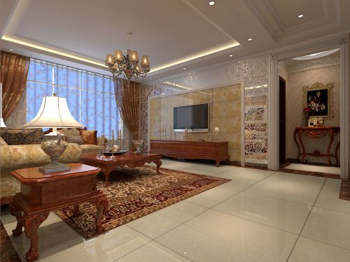 简约欧式风格三居室客厅装修图片欣赏