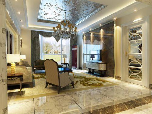 欧式古典别墅客厅装修效果图欣赏