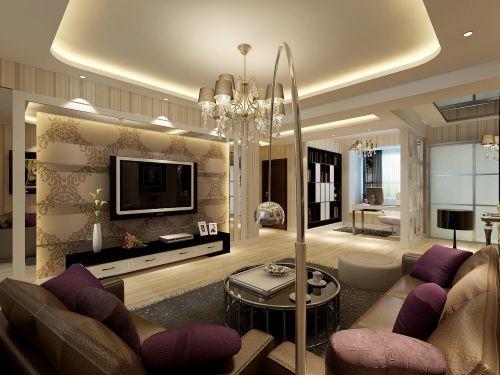 现代欧式二居室客厅装修图片