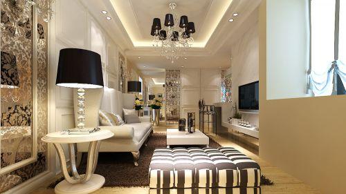 欧式时尚三居室客厅装修效果图欣赏